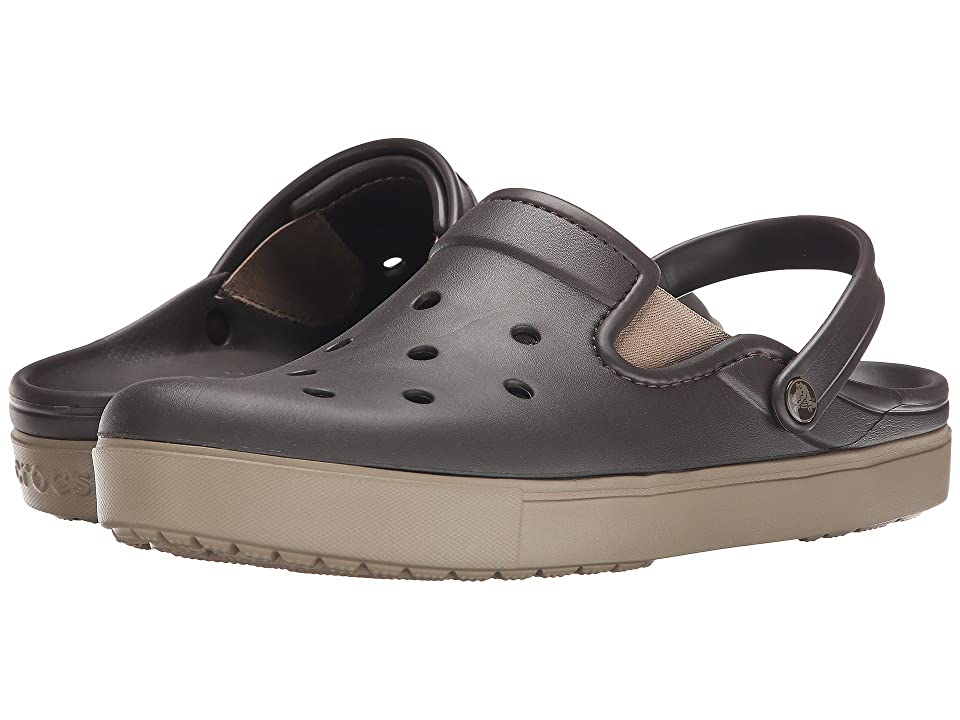 Crocs CitiLane Clog (Espresso/Khaki) Clog Shoes