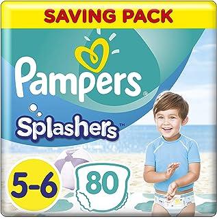 schwimmwindel pampers Pampers Splashers Einweg-Schwimmhose - Größe 5/6 14kg  - Fall von 8 Packungen zu 10