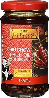 Lee Kum Kee Chili Öl Chiu Chow aus China, pikant, sehr scharf, ohne Konservierungsstoffe, ohne Farbstoffe, vegan 1er Pack 1 x 165 ml