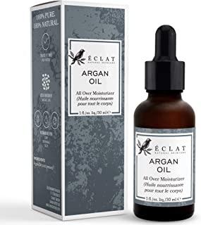 100% Argan Oil by Eclat – Natural Argan Oil from Moroccan Argan Oil Trees for Max Purity to Preserve 100% Argan Oil Vitamin E and Omega 6 Fatty Acids in a Fast Absorbing Argan Oil