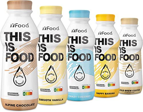 Starter Pack YFood | Substitut de repas | délicieux repas à boire | assortiment de 5 saveurs | 5 x 500ml (1 kcal / ml...