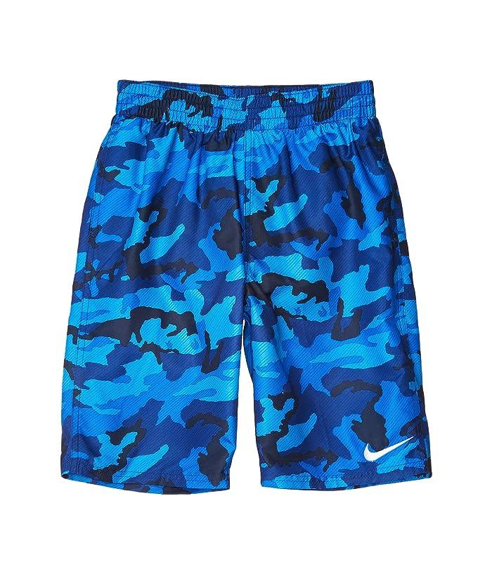 Nike Kids  8 Camo Volley Shorts (Little Kids/Big Kids) (Obsidian) Boys Swimwear