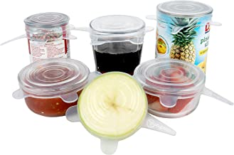 Silicone Stretch Lids (6 Pack, All Small Lids), Reusable, Durable, Expandable. Great for Keeping Food and Drinks Fresh, Di...