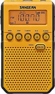 Sangean DT-800YL AM/FM/NOAA Weather Alert Rechargeable Pocket Radio (Yellow)