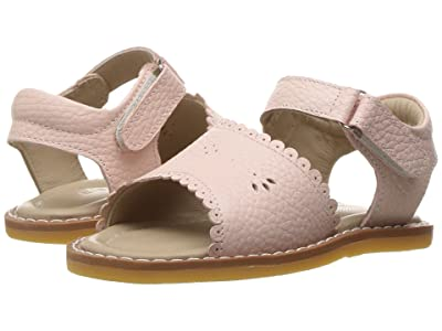 Elephantito Classic Sandal w/Scallop (Toddler) (Textured Pink) Girls Shoes