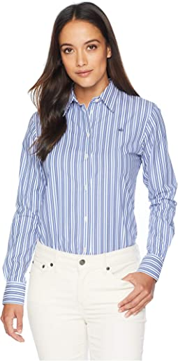 Petite Striped Monogram Shirt