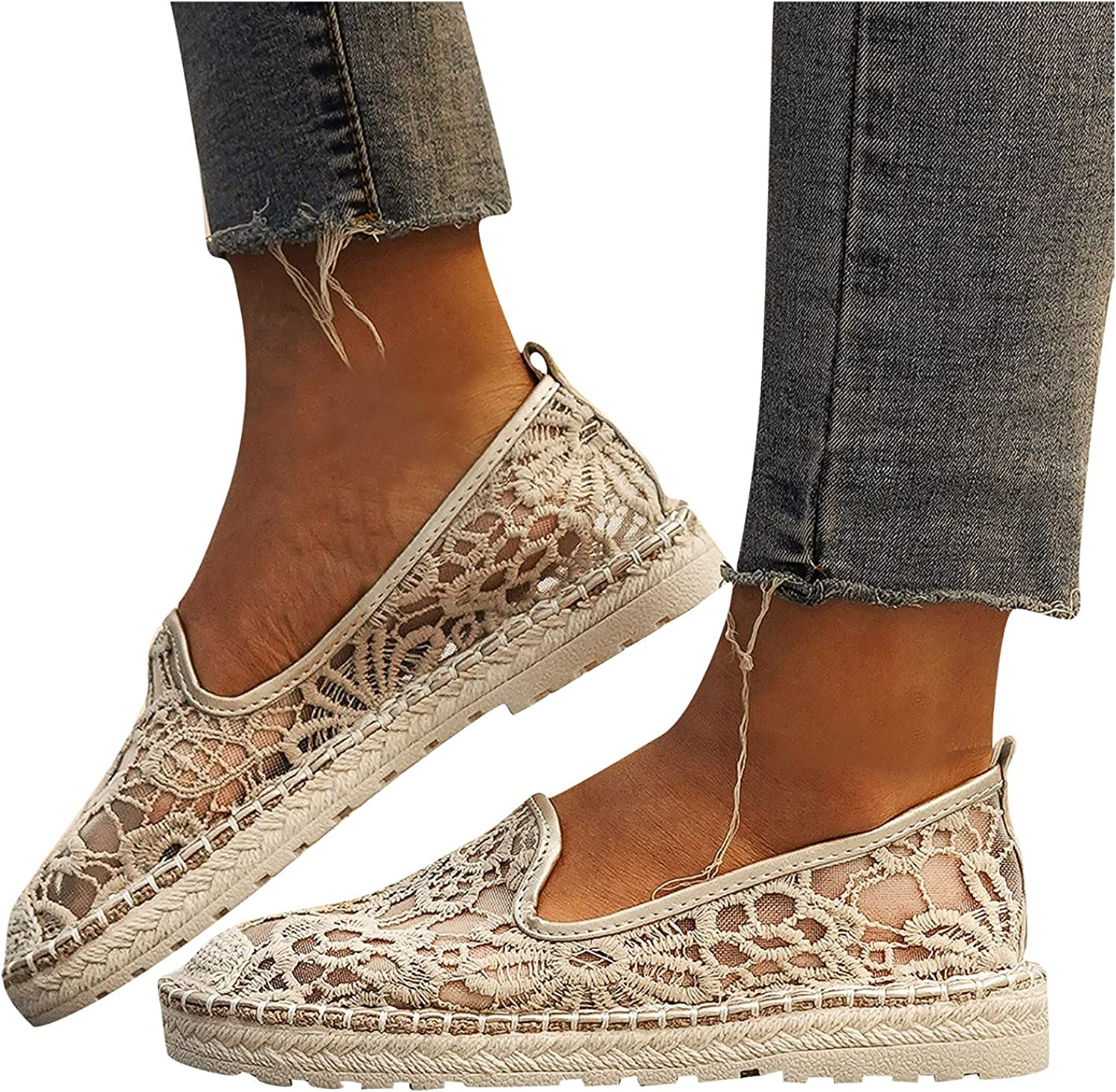 Gloneld Sneakers for Women Fashioh Mail order Summer Mesh Tra Lace ...