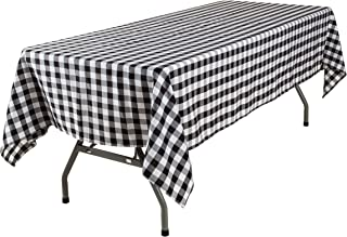 Lycra Home Black Buffalo Plaid Gingham Tablecloth Fabric for Rectangle Tables 60 x 84 Inch Family Holiday,Camping Picnic,R...