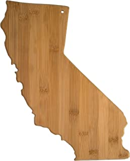 Totally Bamboo 20-7962CA California State Shaped Bamboo Serving & Cutting Board,