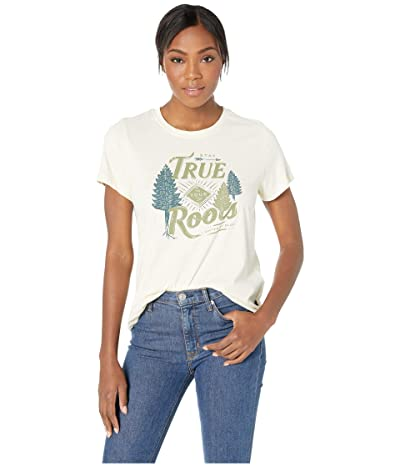 United By Blue Stay True Short Sleeve 55/45 Graphic Tee (Antique White) Women