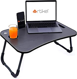 Artikel Multi-Purpose Laptop Table with Dock Stand | Study Table | Bed Table | Foldable and Portable | Ergonomic & Rounded...
