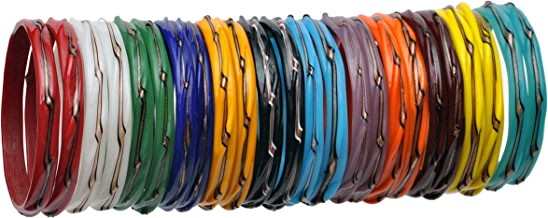 Newmakeinindia Traditional Multicolor Twisted Glass Bangles For Women