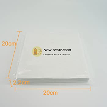 World WeidnerTM Cut Away - 12x10 Fits 5x7 Hoops Machine Embroidery Stabilizer Backing 100 Precut Sheets- Medium Weight 2.5oz