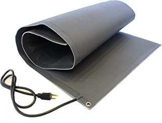 RHS Snow Melting Mat, Heated Walkway Mat, Melts 2 inches of snow per hour as it lands, Color black, Anti Slip Traction, Sandpaper like design, Buy Factory Direct, Heated Mat (2'ft. x 6'ft.)