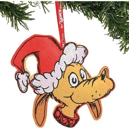 Department 56 Dr. Seuss The Grinch Max Felt Hanging Ornament, 6.5 Inch, Multicolor