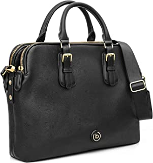 Bugatti Passione Aktentasche Damen aus Kunstleder mit Laptopfach – Businesstasche Damen Laptoptasche – Bürotasche Lehrertasche in Schwarz