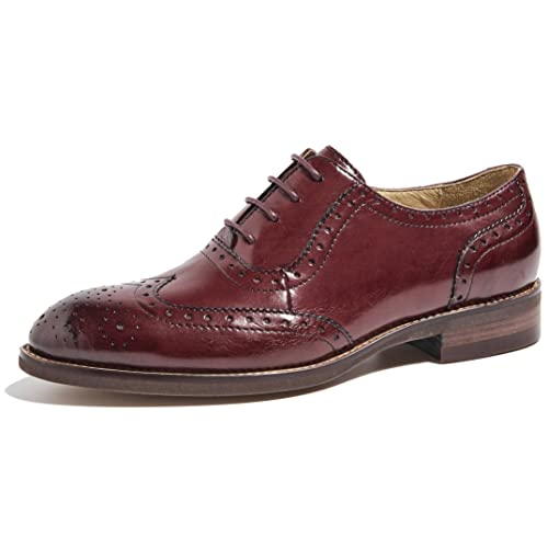 14086b6af9be U-lite Women s Perforated Lace-up Wingtip Leather Flat Oxfords Vintage Oxford  Shoes Brogues