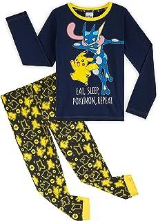Pokèmon Pijama Niño, Pijamas Niños de Invierno con Camiseta Manga Larga y Pantalon en Algodon, Pijama Pikachu, Ropa Infant...