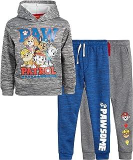 Nickelodeon Boy's Paw Patrol Jogger Set - 3 Piece Hoodie and Sweatpants Set