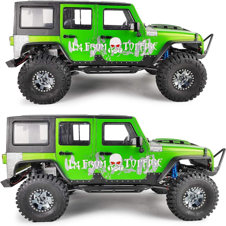 Yellow+Black RC-Hub 4Pcs Aluminum 1.9 Beadlock Wheel Rims for 1//10 AXIAL SCX10 CC01 Truck RC Crawler