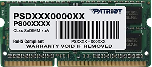 Sponsored Ad - Patriot Signature 4 GB PC3-10600 (1333 MHz) DDR3 SODIMM Notebook Memory PSD34G13332S