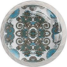 AITAI Boho Indian Vintage Mandala Patroon Ronde Kabinet Knop 4 Pack Trekt Handgrepen