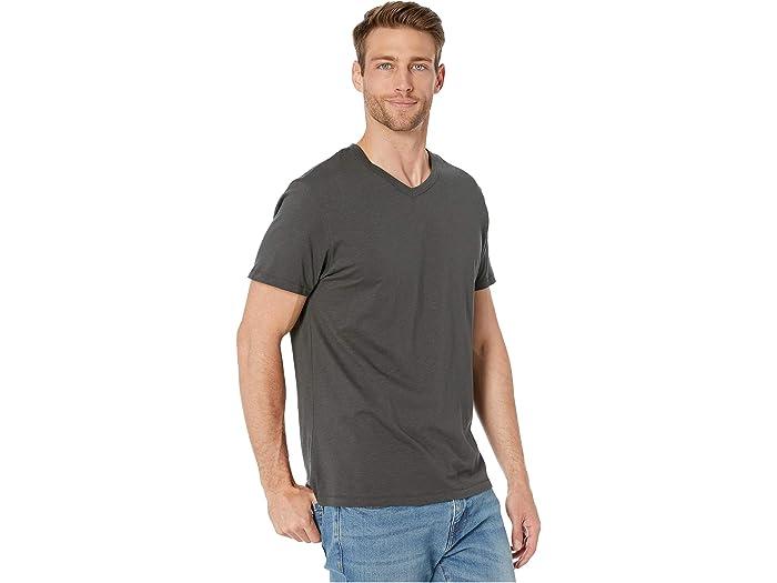 Alternive Slub Keeper V-neck Washed Black Shirts & Tops