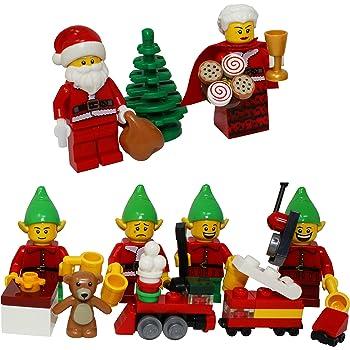 NEW LEGO CHRISTMAS ELF with POLICE CAR minifigure santa claus minifig cop figure