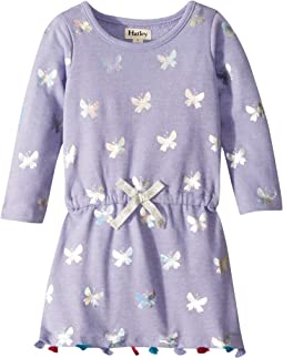 Metallic Butterflies French Terry Dress (Toddler/Little Kids/Big Kids)