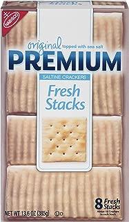 Premium Saltine Crackers, Original - Fresh Stacks, 13.6 Ounce (Pack of 6)