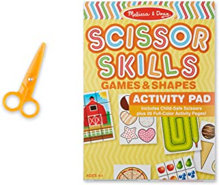 Melissa & Doug 2304 Scissor Skills Activity Book with Pair of Child-Safe Scissors (20 Pages)