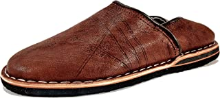 Babouche Cuir Confortable Solide | Hommes & Femmes| Fabrication Traditionnelle Marocaine