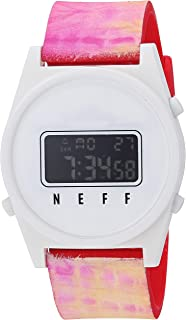 Neff Unisex Daily Digital Athletic Watch with Silicone Band for Men and Women