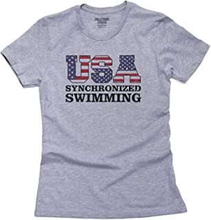 USA Synchronized Swimming - Olympic Games - Rio - Flag Women's Cotton T-Shirt