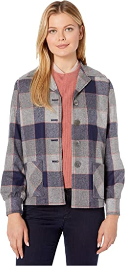 Navy/Grey/Orange Block Plaid