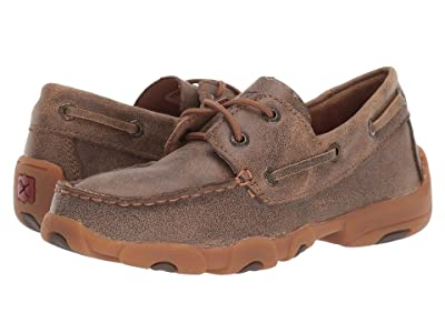 Twisted X Driving Moc Boat Shoe (Little Kid/Big Kid) (Bomber/Bomber) Shoes