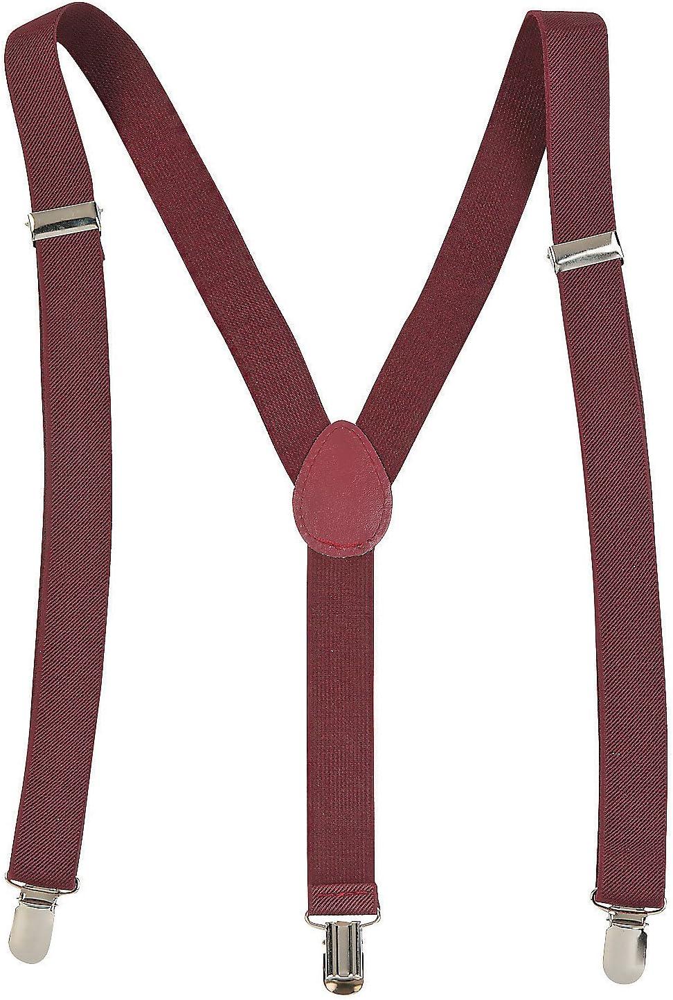 Fun Express Team Spirit Suspenders Burgundy - Apparel Accessories - 1 Piece