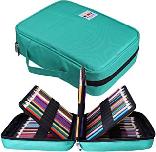 JAKAGO Drawing Pencil Case,Large Capacity Pencil Cases Hold 220 Colored Pencils,Portable Painting Waterproof Storage Stati...