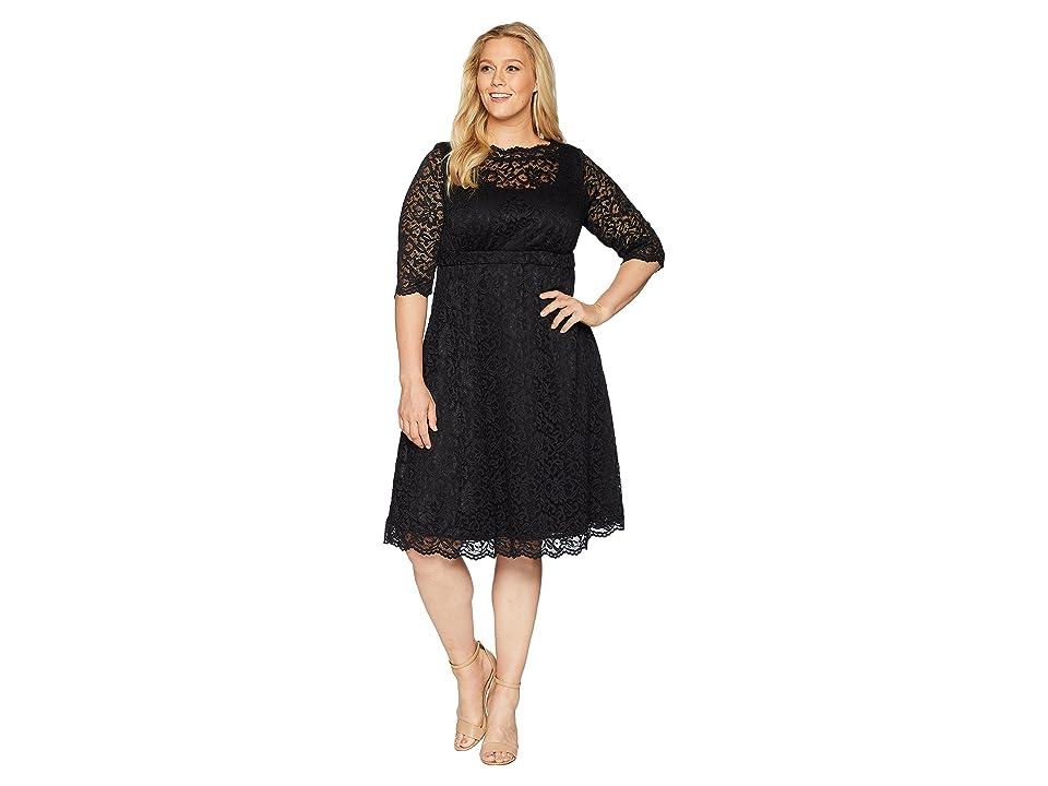 Kiyonna Lacey Cocktail Dress (Onyx) Women