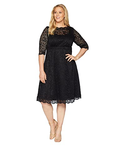 Kiyonna Lacey Cocktail Dress (Onyx) Women