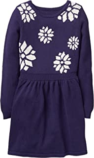 Girls' Little Snowflake Sweater Dress