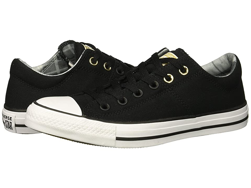 5444ef436b86 Converse Chuck Taylor All Star Madison Mad For Plaid Ox (Black White Black)  Women s Lace up casual Shoes