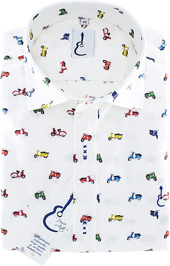 Camisa Manga Larga Estampada Vespas