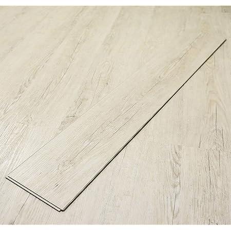 Makinolabs フロアタイル はめ込み 置くだけ パイン P002 接着剤不要 床暖房対応 カットサンプル フローリング シデフロア 裏面パッド付き ペット対応