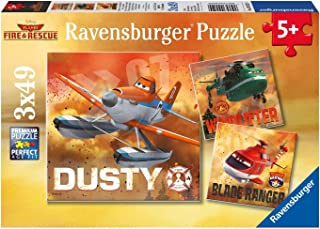 Ravensburger Disney Planes Fire & Rescue: Real Rescue Planes - 3 x 49-Piece Puzzles in a Box