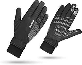 GripGrab Ride Windproof Winter Thermal Full Finger Padded Cycling Gloves Fleece Lined Touchscreen-Compatible Black Hiviz
