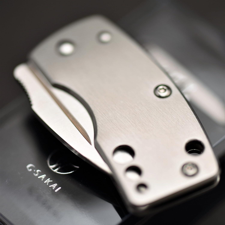 G?SAKAI(Gサカイ) スカル マネークリップ 丸穴 折りたたみナイフ