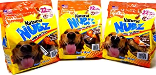 Nylabone Natural Nubz Edible Dog Chews Value Pack of 66ct. / 7.8 lbs. Total (3 x 2.6 lb / 22 ct Bags)