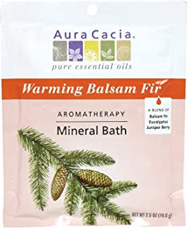 Aura Cacia Aromatherapy Mineral Bath, Warming Balsam Fir, 2.5 ounce packet (Pack of 3)