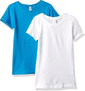 Clementine Apparel Girls' Big' Everyday T-Shirts Crew 2-Pack